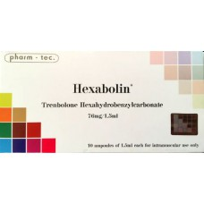 Hexabolin (Trenbolone Hexa) 10 amps x 1.5ml/76mg